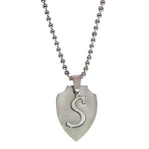 "Men Style Alphabet Letter ""s"" Cutting Silver 304l Stainless Steel Pendent For Men Spn05016"