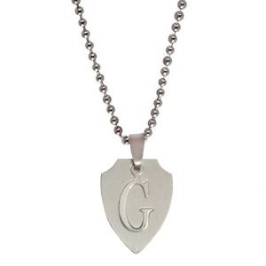"Men Style Alphabet Letter ""g"" Cutting Silver 304l Stainless Steel Pendent For Men Spn05017"