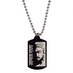 Men Style New Arrival Chhatrapati Janata Raja Shivaji White Rubber Square Shape Pendent For Men And Women Spn05024
