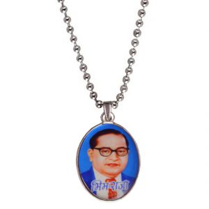 Men Style Bhim Raja Dr, Babasaheb Multicolor Alloy Oval Pendent For Men Spn05033