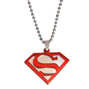 Men Style Superman Inspired Red Pendent For Men Spn05039