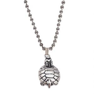 Men Style Turtle Necklace Silver Sea Turtles Tortoise Charms Silver Animal Pendant