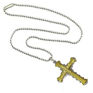 Men Style New Arrival 2016 Crystal Jesus Christ Crucifix Christian Cross Gold Jesus Cross Pendant