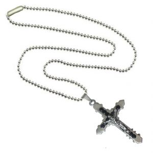 Men Style Hot Selling Jesus Christ Crucifix Christian Cross Black Stainless Steel Jesus Cross Pendant