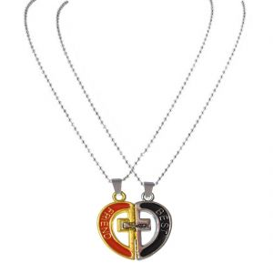 Men Style New Fashion Couples Best Friend Jesus Cross Necklace Multicolour Jesue Cross Pendant