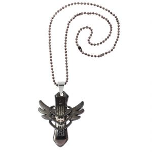 Men Style Arrival High Quality Cross And Angel Wing Design Hollow Out Heart Christian Cross Pendant