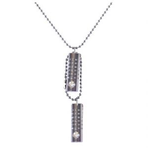 Men Style Silver Cylinder Chain Pendant