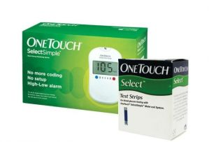Johnson & Johnson One Touch Select Glucose Monitor With 100 Strips