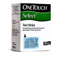 Johnson & Johnson Health & Fitness - Johnson & Johnson Onetouch Select Simple Test Strips, 50 Strips