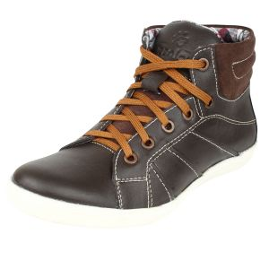 Molessi Mens Brown Leather Casual Shoe - ( Code - Ml15ac032s_p )