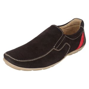 Molessi Mens Brown Suede Leather Casual Shoes - ( Code - Ml15c423s_p )