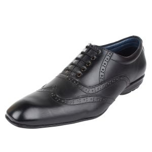 Molessi Mens Black Brogue Designer Shoes - ( Code - Ml15br419s_p )