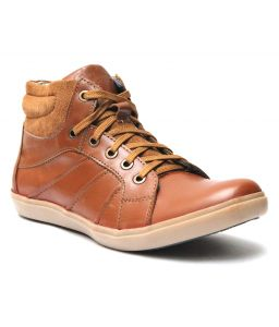 Molessi Mens Tan Leather Casual Shoe - ( Code - Ml15ac031s_p )