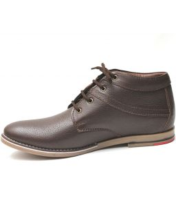 Molessi Brown High Ankle Leather Shoe-(code-ml15ac056s6_p)