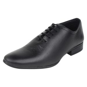 Molessi Mens Single Piece Genuine Leather Black Designer Shoes - ( Code - Ml15f427s_p )