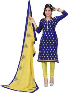 Stylish Fashion Amazing Blue Embroidered Straight Suit-sfp18-2066