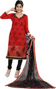 Stylish Fashion Gorgeous Red Embroidered Straight Suit-sfp18-2068