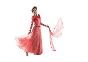 Stylish Fashion Fabulous Neck Peach Floor Length Anarkali Suit
