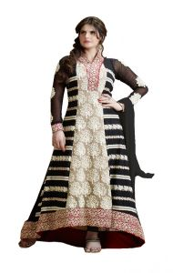 Stylish Fashion Amazing Embroidered Black Anarkali Suit With Embroidery Sleeves Sfp-2061