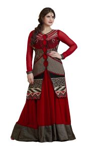 Stylish Fashion Gorgeous Embroidered Maroon Koti Style Floor Length Anarkali Suit Sfp-2063