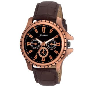 Arum Latest Brown Trendy Watch