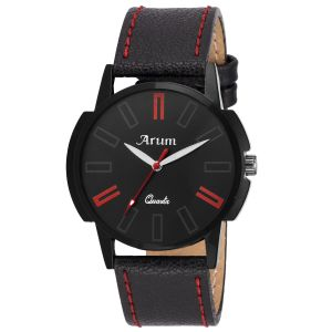 Arum Stylish Black Trendy Watch