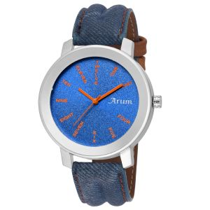 Arum Stylish Blue Trendy Watch