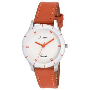 Arum Trendy Brown Watch For Ladies