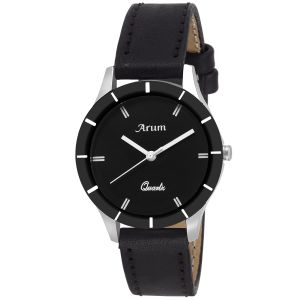 Arum Trendy Black Watch For Ladies