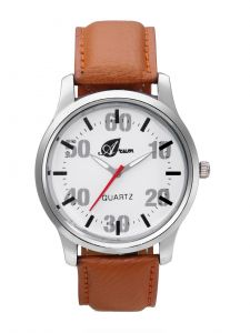 Arum Stylish Brown Strap Watch For Men Aw-102