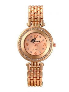 Arum Golden Diva Stylish Fashion Watch For Women Aw-068