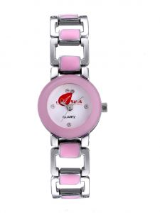 Arum Pink Square Watch For Girls Aw-095