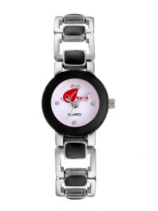 Arum Black Square Watch For Girls Aw-096