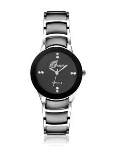 Arum Stylish Black Cat Watch For Ladies