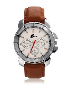Arum Analog White Dial Men