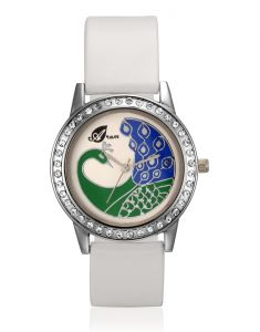 Arum White Peacock Watch Aw-016