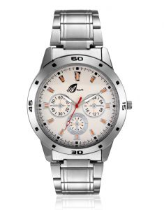 Arum Silver Round Analog Casual Watch Aw-020