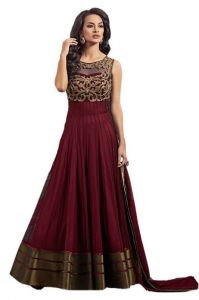Anarkali Suits (Stitched) - D Fashion Hub Women's Staylish Gown_y01maroon