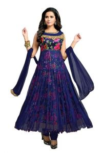 Morpich Fashion New Designer Blue Rose Net Salwar Suit(022)
