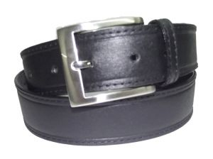 Pe Mens Genuine Leather Black Waist Belt - (product Code - Bl102bl_plain)