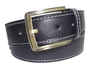 Pe Mens Genuine Leather Black Waist Belt - (product Code - Bl103bl_plain)