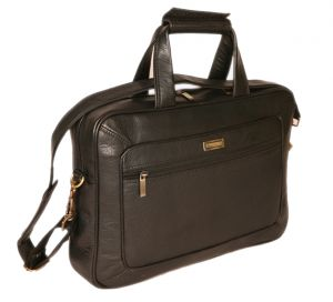 Pe 15 Inch 100% Genuine Leather Laptop Messenger Bag