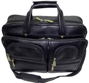Office Bags - PE 16 inch 100% Genuine Leather Laptop Messenger Bag