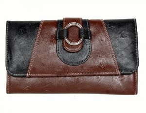 Pe Womens Brown Pu Leather Wallet