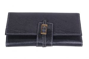 Pooja Exports Genuine Leather Ladies Wallet Lw101_bl