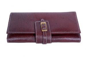 Pooja Exports Genuine Leather Ladies Wallet Lw101_br