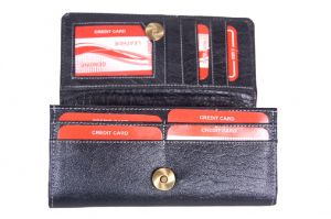 Pooja Exports Genuine Leather Ladies Wallet Lw102_bl