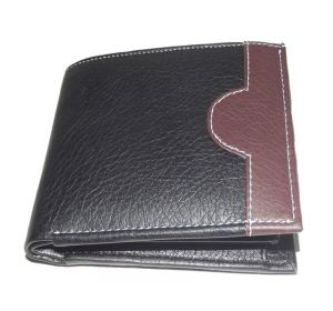 Pe Mens Designer Pu Leather Black Money Wallet