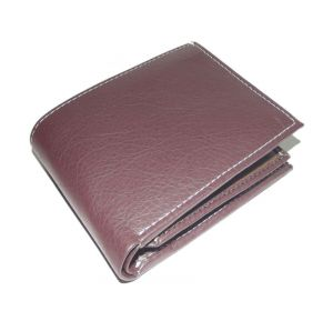 PE Mens Brown PU Leather Wallet