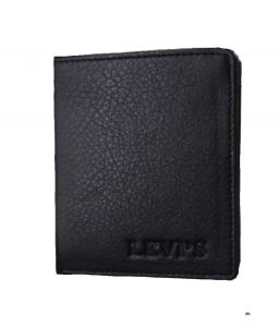 Pe Mens Fashionable New Style Black Pu Leather Wallet